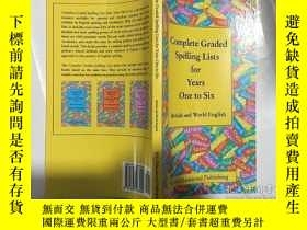 二手書博民逛書店complete罕見graded spelling lists for years one to six 完整的拼