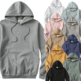 現貨速達 冬刷毛 男女可穿 情侶裝【G2416】10色刷毛 雙口袋設計連帽抽繩T恤 造型 可單買 艾咪E舖