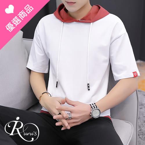 日系連帽短袖T恤/3色/MLXL (TE0292-E89)