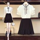 套裝裙襯衫上衣雪紡衫L-4XL中大尺碼短裙半身裙4F082.8823胖胖唯依