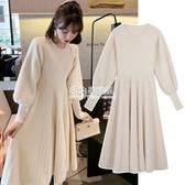 孕婦裝秋冬裝上衣2020新款冬裝套裝時尚款冬天毛衣加絨孕婦洋裝 初色家居館新品