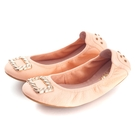 G.Ms. 金屬方釦折疊豆豆鞋-粉色...