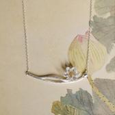 古典韻味設計蓮花蓮蓬紋理925純銀項鍊/設計家