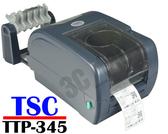 TSC TTP-345 桌上型熱感式&熱轉式條碼機 (送外掛紙架) 標籤機 貼紙機 吊牌機