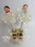 娃娃屋樂園珍珠新人公仔簽名筆一對筆座每組500 元婚禮小物喜糖籃結婚用品禮桌佈置