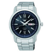 SEIKO 精工 5號盾牌羅馬機械腕錶 7S26-04T0D(SNKP17J1) 銀x藍