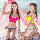 K.J時尚女郎bikini 韓國分體裙式游泳衣 比基尼溫泉 泳衣 女小胸聚攏鋼托泳裝