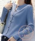 外套女 秋冬女士外搭針織開衫圓領外套2020新款寬鬆時尚短款非羊絨打底衫【快速出貨】