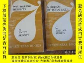 二手書博民逛書店wuthering罕見heights+a dream of jo
