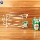 創意可樂架聽裝啤酒架雙層飲料易拉罐收納架桌面滾動鐵絲置物架 中秋特惠