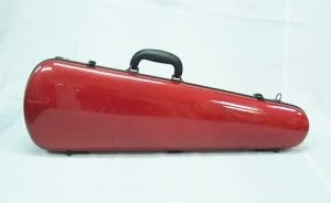 小提琴盒 CA-300WB 水滴型玻璃纖維三角硬盒 (紅色)