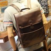 休閒男士後背包包韓版潮學生書包瘋馬皮背包運動旅行電腦包 黛尼時尚精品