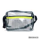 【反光條黑格紋透明側背包-黃 SE-515G】高科技產業 斜背包 肩背包 工具包 工作包 抗靜電無塵室包
