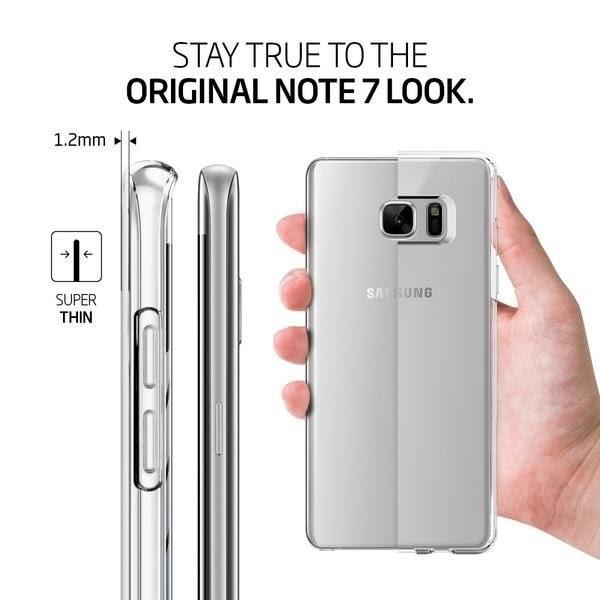 【米創3C】Spigen 韓國 SGP 三星 Note7 Liquid Crystal 極致纖薄透明手機殼 保護殼 Note 7