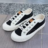 【折後$1499再送贈品】KANGOL 帆布鞋 黑白 撞色 餅乾鞋 韓版 休閒 女 舒適 6052200323