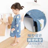 兒童浴袍寶寶睡衣春秋嬰兒睡袍純棉1薄款3歲兒童睡裙男女童 貝芙莉