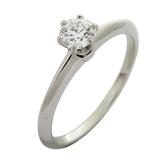 Tiffany & Co 蒂芬妮 Solitaire系列0.31ct 六爪單顆鑽石PT950柏金戒指【BRAND OFF】