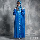 雨衣 時尚迷彩長款前開風成人男女全身寬鬆可到腳遮臉面罩LB16531【123休閒館】