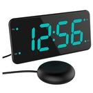 [2美國直購]  LIELONGREN 強力搖床鬧鐘 7吋顯示螢幕 重度睡眠 聾啞人士 聽力障礙者