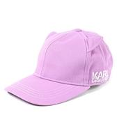 美國正品 KARL LAGERFELD 貓咪耳朵棒球帽-粉紫【現貨】