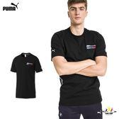 Puma BMW Life 黑 男 短袖 上衣 短T 棉T 短袖 衛衣 運動 休閒 上衣 57778101