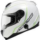 [東門城] ASTONE GT1000F AC2 白綠 碳纖維 內藏式墨片 EQRS設計 雙D扣 全罩式安全帽