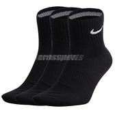 【三雙一組】Nike 襪子 Dri Fit Cushion Crew Socks 黑 白 基本款 短襪 運動襪 男女款【PUMP306】SX4793001_3