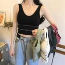 夏季新款網紅U型美背吊帶內搭打底運動背心女外穿性感無袖上衣潮