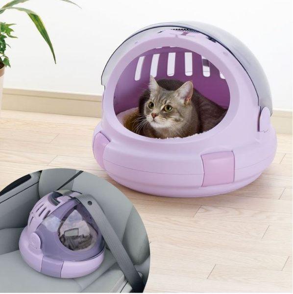 *~寵物FUN城市~*《日本Richell》Corole 太空艙兩用提籃【M號】 (睡窩,貓用提籃,寵物提籃)