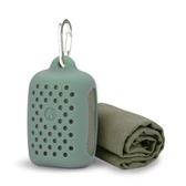 運動毛巾速干戶外手腕吸水快干吸汗擦瑜伽健身房男女跑步口袋硅膠