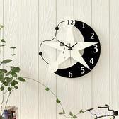 裝飾鐘表 簡約客廳掛鐘歐式藝術時鐘臥室 靜音掛表TA7153 【極致男人】