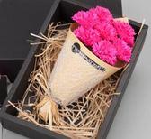禮物香皂玫瑰花母親節康乃馨玫瑰仿真花花束禮盒送媽媽520女友 愛麗絲精品