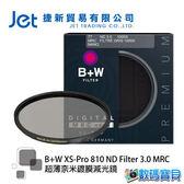 B+W XS-Pro 810 ND MRC 60mm nano (ND1000 減10格) 超薄nano鍍膜減光鏡 (捷新公司貨) 高硬度