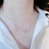 項 情享天鵝幸運項女短款鎖骨吊墜玫瑰金日韓簡約飾品簡約項女