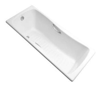 【麗室衛浴】美國KOHLER活動促銷 Bliss 鑄鐵浴缸 K-15849T-GR-0 含扶手孔 170*75*45.6CM
