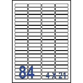Unistar 裕德3合1電腦標籤紙 (30)US4611 84格 (100張/盒)