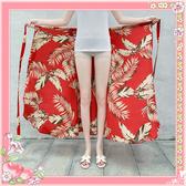 民族風長裙 度假沙灘裙 一片式繫帶雪紡半身裙 A字群 超值價