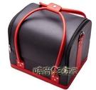 韓國大容量專業手提便攜化妝包工具箱多層美甲紋繡跟半永久化妝箱「時尚彩紅屋」