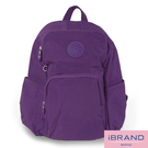 【i Brand】輕盈防潑水防盜尼龍後背包-紫色 MDS-8526-A