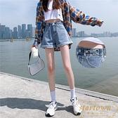 高腰牛仔短褲女高腰顯瘦夏季寬鬆休閒褲【繁星小鎮】