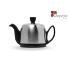 Degrenne paris 啞光黑不鏽鋼罩陶瓷壺 法國製 茶壺 花茶壺 歐風茶壺