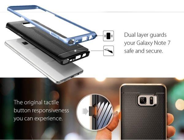 【贈9H玻璃保貼】SGP 三星 Galaxy Note7 Neo Hybrid 雙件式邊框 保護殼 Note 7 手機殼