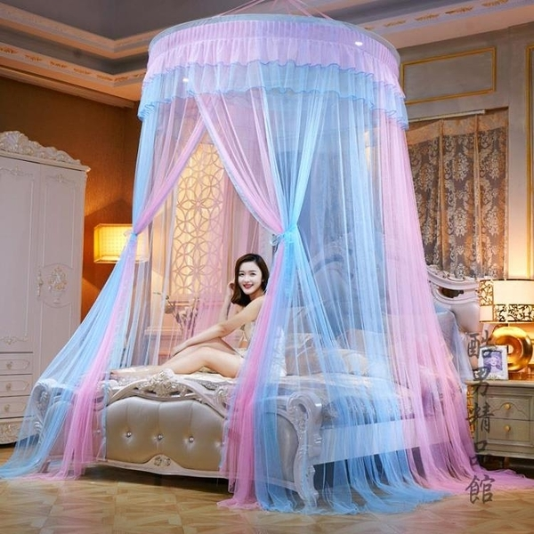 加密圓頂蚊帳1.8m床雙人家用1.5m吊頂落地宮廷2米公主風免安裝 後街五號