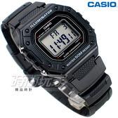 CASIO卡西歐 W-218H-1A 復古方型設計 數位電子錶 女錶 男錶 學生錶 防水 黑色 W-218H-1AVDF