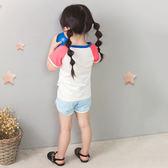 618好康鉅惠2018韓版女嬰短袖t恤 中小童夏裝嬰兒圓領