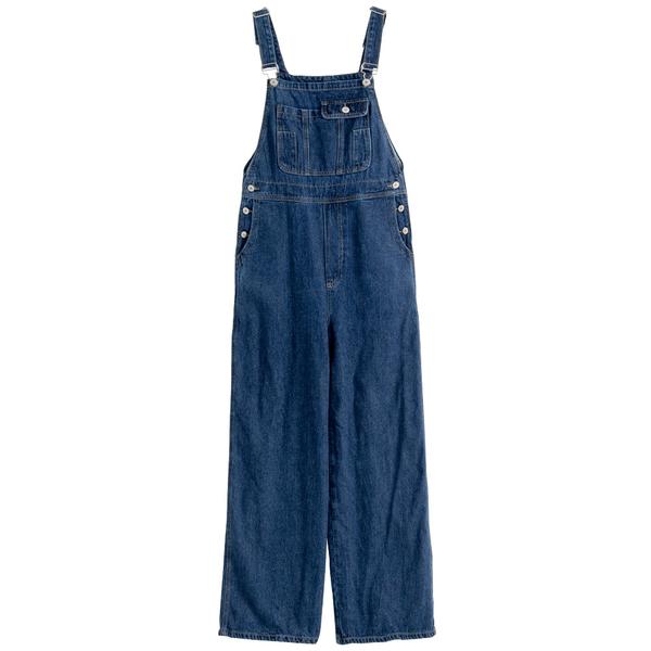 Queen Shop【04050731】口袋造型設計牛仔吊帶褲 S/M*現+預*