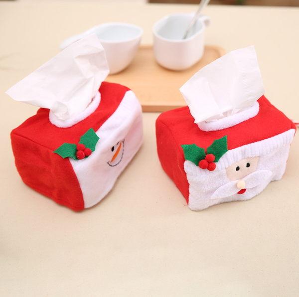 新款聖誕裝飾品 聖誕紙巾盒裝飾 小號聖誕紙巾盒套 聖誕場合裝飾─預購CH2479