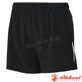 Wildland 荒野 W1505-54黑 女四彈抗UV休閒短褲 彈性快乾/輕薄透氣/機能褲/登山健行/運動褲