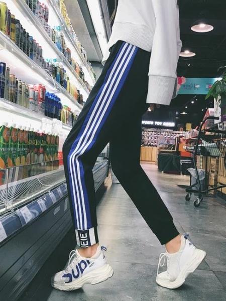 褲子女秋冬新款學生韓版寬鬆百搭加絨加厚休閒衛褲運動褲 凱斯盾