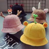 新款燈芯絨兒童漁夫帽2-4歲秋冬男童盆帽寶寶女童帽子3歲韓版潮帽